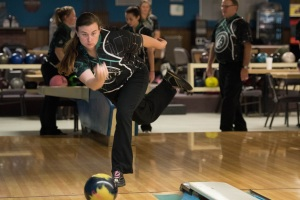 SENIOR SEASON: Emily O'Leary bowls in a home practice at