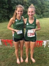 TOP TWENTY: Christine Sparks and Aspen Dirr pose after finishing in the top-20 at Little State Sept. 16. (photo provided)