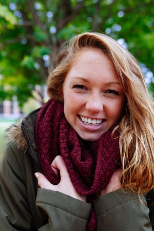 BUNDLE UP:  Look to chunky scarves to add variety to your favorite outfits.  Photo by Mark Lewandowsi